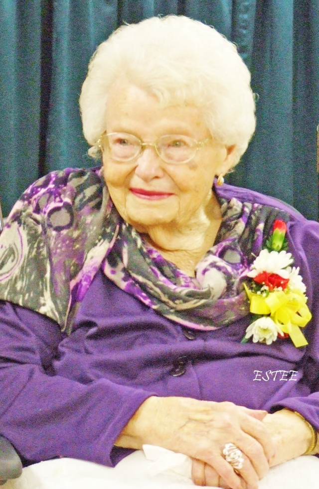 Aunt Grace 100 years old today.
