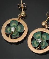 Shamrock ear rings