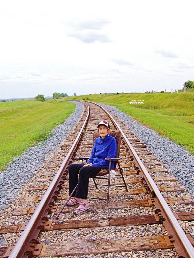 """My Mom says....""""Even though you are on the right track - you will get run over if you just sit there""""...."""