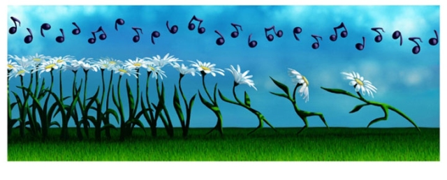 The daisies danced in torment..